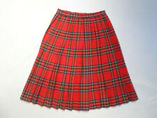 VINTAGE RED TARTAN PLEATED SKIRT