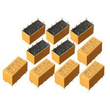 10Pcs DC 12V SHG Coil DPDT 8 Pins 2NO 2NC Mini Power Relays PCB Type HK19F Kit