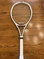 "Prince White 100"" Exo3 Tennis Racket Racquet 4 1/4"" Great Condition"