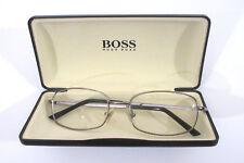 Hugo Boss ITALY 0054 0V81 150 Ruthenium Silver Mens Eyeglasses MSRP $250 57[]18