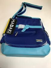Hadaki Kiko Saddle Bag  Crossbody Flap Satchel Purse 15 x 13 COBALT & AQUA - NWT