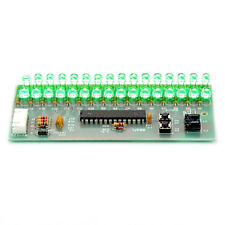 16 LED Dual Channel MCU Adjustable Display Pattern LED VU Meter Level Indicator
