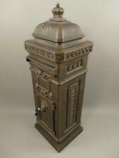 Englischer Briefkasten Standbriefkasten rustikal braun Antik Stil Aluguß H.116cm