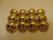 (#16) 12 Inniskilling Fusiliers 19mm Military Uniform Buttons Vintage Unissued