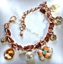 Modeschmuck-Armbänder im Ketten-Stil aus Rotgold für Damen