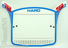 Haro BMX Number Plate Series 1B Retro 2015-release BLUE / RED numberplate NEW