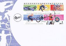 Finland 2012 FDC - Disabled Olympic Paralympic Winner Athletes Cycle Race Archer