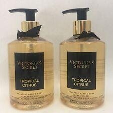 2 VICTORIA'S SECRET TROPICALE AGRUMI FRAGRANTE mano & corpo detergente gel 10