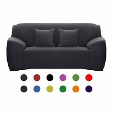 Polyester Solid Color Stretch Sofa Cover Elastic Seat Couch Home Decoration G75