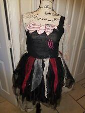 Girls Costume Kids Halloween Zombie Bride Fancy Dress Cosplay