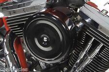 """7"""" Redondo Negro Bobber Limpiador Filtro aire Kit con / Funda HARLEY CV CARBS FL"""