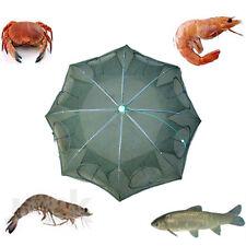 8 Holes Portable Folded Fishing Net Fish Shrimp Minnow Crab Baits Cast Mesh Trap