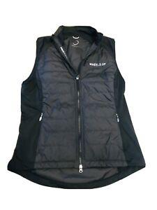 NWOT Zero Restriction | Women's Tess Vest, Wheels Up Logo, Black, Size L