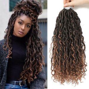 Synthetic Crochet Braid Hair Goddess Braiding Hair Extension Faux Locs CurlyHair