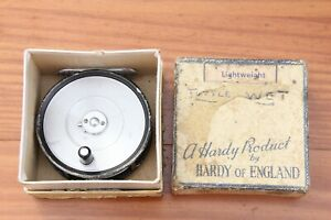 VINTAGE HARDY 'THE LIGHTWEIGHT' FLY REEL IN ORIGINAL BOX