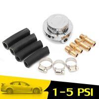 Adjustable 1-5 PSI Flow Fuel Pressure Carburettor Carb Regulator + 8mm 10mm  +