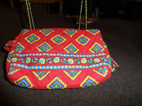 Vera Bradley small cosmetic in retired Villa Red pattern