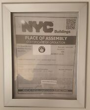 NYC PLACE OF ASSEMBLY CERTIFICATE OF OPERATION FRAME