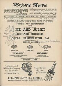 "[RODGERS & HAMMERSTEIN]: ""Me and Juliet"" - Signed Program (HAYES) (MCCRACKEN)"