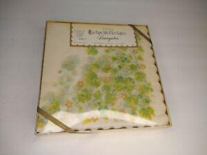 Baumgarten's Rice Paper Silk Effect 20 Luncheon Napkins Yellow Green Floral