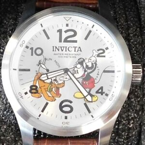 Invicta Disney LE Mickey Mouse and Pluto Flame-Fusion Crystal Watch Model #22874