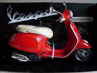 NEW RAY 1:12 MOTO DIE CAST VESPA PRIMAVERA ROSSA ART 57553
