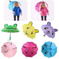 Mini Girl Doll Umbrella Kids DIY Toys for 18 Inch American Doll Accessories Gift