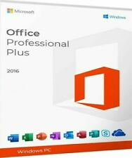 MS Office Professional 2016 + 1 User PC Product Key and DVD