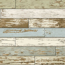 Wallpaper By The Yard Nu2188 Green Old Salem Vintage Wood Planks Peel and Stick