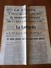4 quotidiani sett. 1904 Cinque giorni di scioperi e disordini in tutta Italia