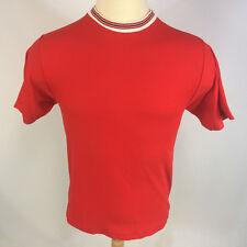 Vintage 50s 60s Blank Plain Ringer Stripe Rockabilly Surf Beach T Shirt 50 50