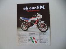 advertising Pubblicità 1984 MOTO MALANCA 125 OB ONE