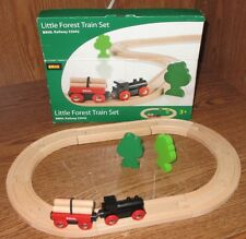 Brio Railway Little Forest Train Set 33042 Wooden 18 Piece Train Set Used Nice