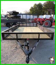 77 X 12 12ft Utility Landscape Lawn Mower Hunting Camping Utv Atv Trailers Ok