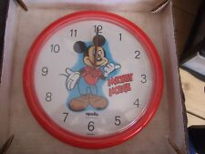 VINTAGE MICKEY  MOUSE  MICKEY MOUSE   Wall Clock  BRAND NEW OLD STOCK