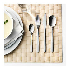 IKEA 24 piece cutlery Flatware stainless steel Fork Knife Spoon Teaspoon 6each