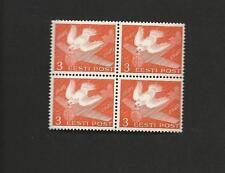 Estonia Sc. 150, 152 Mnh Blocks / 4 Carrier Pigeon Postage Stamp Centenary