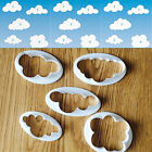 5pcs Cloud Plastic Fondant Cutter Cake Mold Fondant Cake Decorating Tools New
