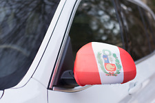 PERU CAR MIRROR FLAG COVERS 2018 WORLD CUP SHIPS FROM USA