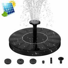 Solar Powered Floating Pump Water Fountain Birdbath Home Pool Garden Decor GB