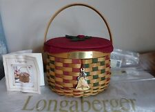 Longaberger Christmas 2003 Caroling Basket Combo & Lid w/ cover ALL Mint to NM
