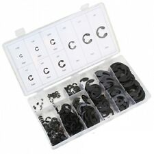 300pc E-Clip Assortment | SAE Black Oxide Fastener Set Retaining Ring Kit