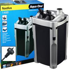 Aqua One Nautilus External Aquarium Fish Tank Turtle Pond Canister Filter 1400