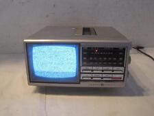 General Electric BW Black & White Portable TV Set AM/FM Radio AC/DC - 7-7150A