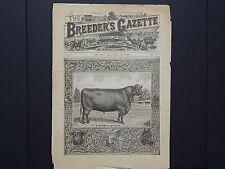 The Breeder's Gazette, Front Page, Cows, Horses, c. 1880's #02