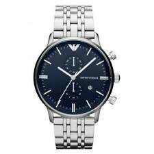EMPORIO ARMANI AR1648 BLUE & SILVER STAINLESS STEEL MENS CHRONOGRAPH WATCH
