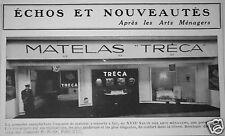 PUBLICITÉ 1948 MATELAS A RESSORT TRÉCA PREMIÈRE MANUFACTURE FRANÇAISE