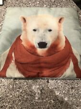 Polar Bear Zippered Pillow Cover 17X17 Inches