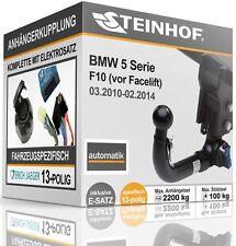 Anhängerkupplung abnehmbar BMW F10 4-Tür 2010-2014+E-SATZ 13p SPEZIFISCH