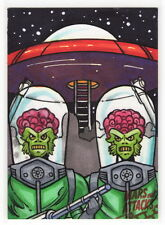 2015 TOPPS MARS ATTACKS OCCUPATION James Bukshot Bukauskas Red Logo Sketch Card
